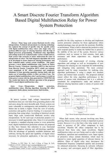 A Smart Discrete Fourier Transform Algorithm Based Digital ... - ijcee