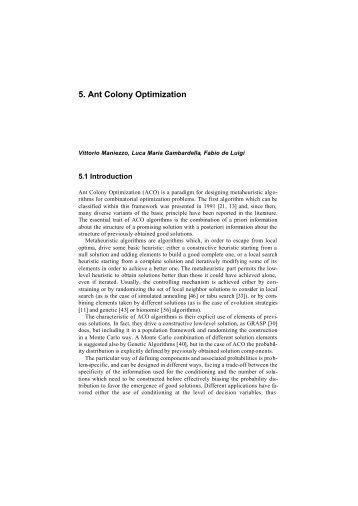 5. Ant Colony Optimization - Idsia