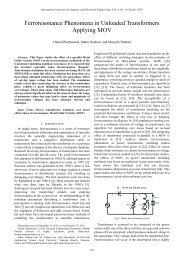 Ferroresonance Phenomena in Unloaded Transformers ... - ijcee