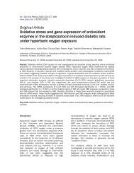Oxidative stress and gene expression of antioxidant enzymes in the ...