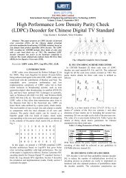 high performance low density parity check (ldpc) decoder for ... - ijeit