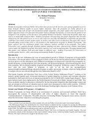 Influence of Gender Roles on Module II Students in Kenyan Public ...