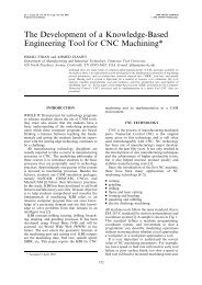The Development of a Knowledge-Based Engineering Tool for CNC ...