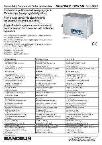 DK 1028 P 11358d def BANDELIN - Bandelin electronic