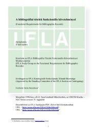 A bibliográfiai tételek funkcionális követelményei - IFLA