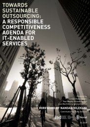 Towards Sustainable Outsourcing - International Institute for ...