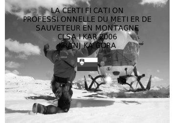 sauveteur en montagne - IKAR-CISA