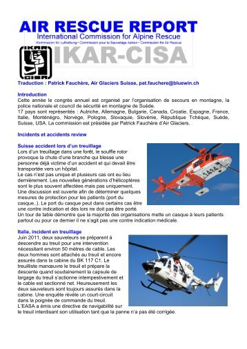 Patrick Fauchère, Air Glaciers Suisse, pat.fauchere ... - IKAR-CISA