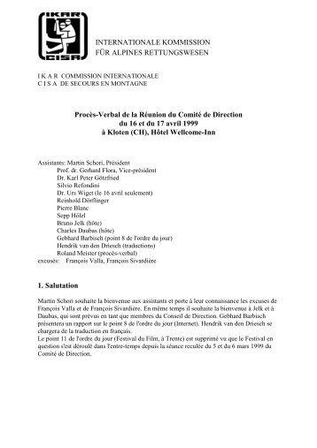 INTERNATIONALE KOMMISSION FÜR ALPINES ... - IKAR-CISA
