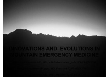 innovations and evolutions in mountain emergency ... - IKAR-CISA