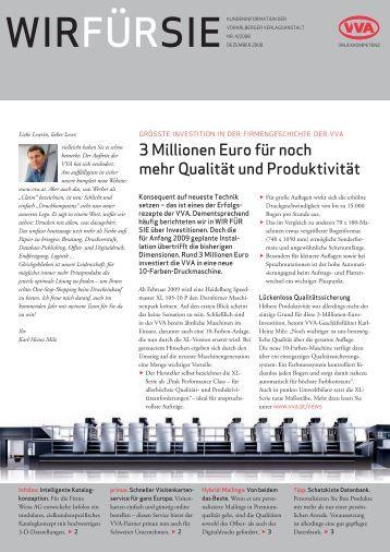 3 Millionen Euro für noch mehr Qualität und Produktivität