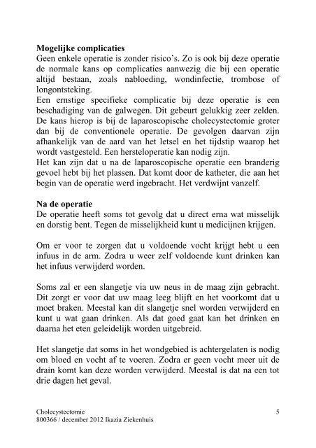 Galblaas verwijderen - Ikazia Ziekenhuis