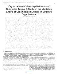 Organizational Citizenship Behaviour of Distributed Teams: A Study ...