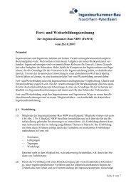 Fort- und Weiterbildungsordnung - Ingenieurkammer-Bau Nordrhein ...