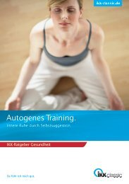 Autogenes Training. - IKK classic