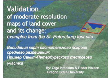 Global Vegetation Workshop, University of Montana Direct validation