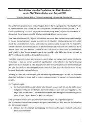 Bericht über einzelne Ergebnisse des Abschlusstests an der SMP ...