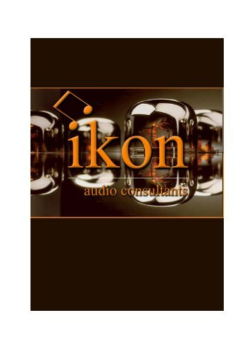 Affordable 'high end' audio products of distinction - Ikon Audio ...