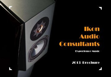 2013 Brochure download - Ikon Audio Consultants