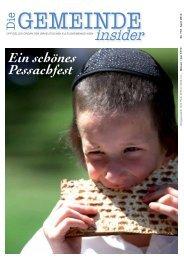 Insider April 2013 als pdf herunterladen - Israelitische ...