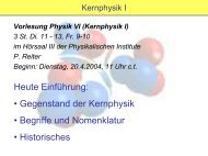 Kernphysik I - Institute for Nuclear Physics
