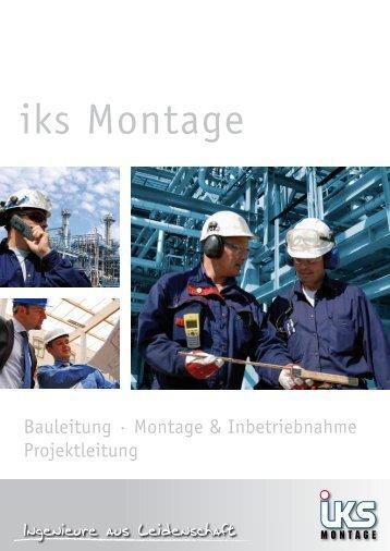 Folder iks Montage - iks Gruppe