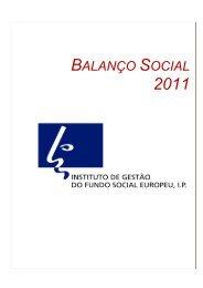 Balanço Social 2011 - Instituto de Gestão do Fundo Social Europeu