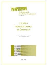 Studie 20 Jahre Arbeitsassistenz in Österreich - PSZ