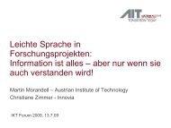 Leichte Sprache in Forschungsprojekten: Information ist alles ...