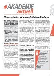 Natur als Produkt im Schleswig-Holstein-Tourismus - IKZM-D Lernen