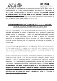 informativo reunião interamericana - IDESTUR - Instituto de ...