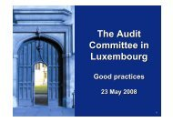 Why an Audit Committee? - ILA
