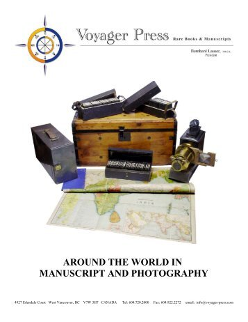 around the world in manuscript and photography - Voyager Press ...