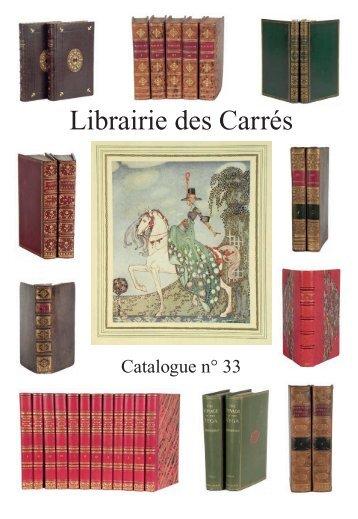 Catalogue n°33 108 4,0 Mo - Librairie des Carrés