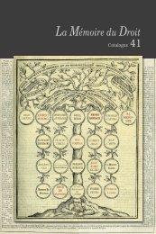 Catalogue n° 41 - Librairie La Memoire du Droit