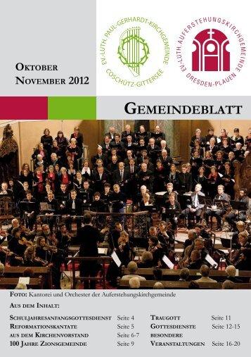 GOTTESDIENSTE NOVEMBER 2012 - Auferstehungskirche ...