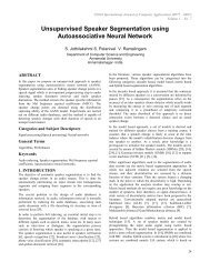 Unsupervised Speaker Segmentation using Autoassociative Neural ...