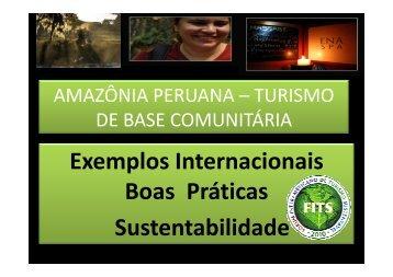 FIT Amazônia Peruana – Turismo de Base Comunitária - IDESTUR ...