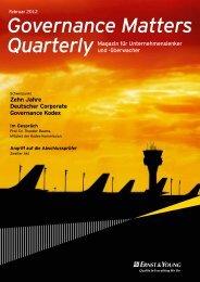 Governance Matters Quarterly, Februar 2012
