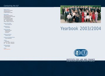 Yearbook 2003/2004 - Institute For Law And Finance