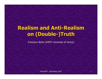 Realism and Anti-Realism on (Double-)Truth