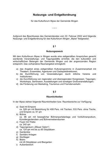 Nutzungs- und Entgeltordnung - Illingen.de