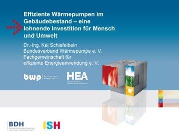Effiziente Wärmepumpen im Gebäudebestand ... - ISH 2011 - BDH