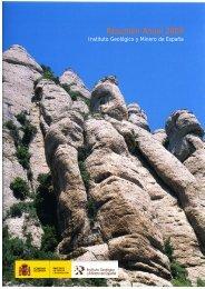 Año 2009 - Instituto Geológico y Minero de España