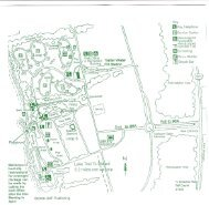 Park plan and camping area map