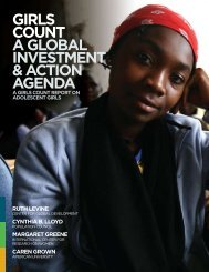 Girls Count: A global Investment & Action Agenda - ICRW