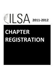 2012 ILSA Chapter Registration Form - International Law Students ...