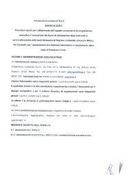 Infrastrutture Lombarde 5-pA. BANDO DI GARA Procedura aperta ...