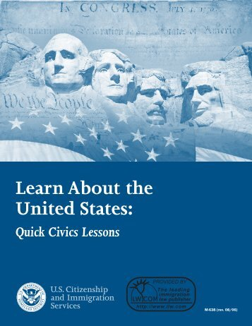 Learn About the United States: Quick Civics Lessons - ILW.com