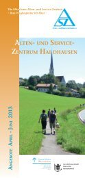 Programmheft für April bis Juni 2013 - Innere Mission München